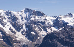 Mountain Landscape. In the Swiss Alps. View from Mt. Schilthorn Stock Photo