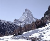 Mountain Landscape Switzerland Wallis Zermatt Snow royalty free stock photos