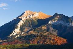 Mountain landscape, Tatry. Eeriness mountain landscape, Tatry, Poland royalty free stock photography