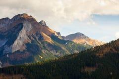 Mountain landscape, Tatry. Eeriness mountain landscape, Tatry, Poland stock photos