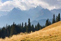 Mountain landscape, Tatry. Eeriness mountain landscape, Tatry, Poland royalty free stock photo