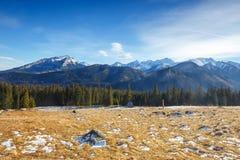 Mountain landscape, Tatry, Poland. Autumn mountain landscape, Tatry, Poland royalty free stock photos