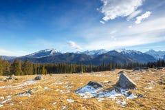 Mountain landscape, Tatry, Poland. Autumn mountain landscape, Tatry, Poland royalty free stock photo