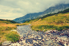 Mountain landscape, Tatry, Poland. Autumn landscape, Tatra mountains, Poland royalty free stock photos