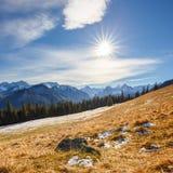 Mountain landscape, Tatry, Poland. Autumn landscape, Tatra mountains, Poland stock image