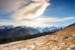 Mountain landscape, Tatry, Poland. Autumn landscape, Tatra mountains, Poland stock images