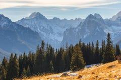 Mountain landscape, Tatry, Poland. Autumn landscape, Tatra mountains, Poland royalty free stock photography