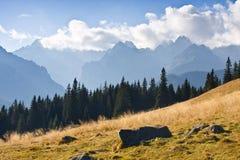 Mountain landscape, Tatry, Poland. Eeriness mountain landscape, Tatry, Poland stock photos