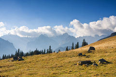 Mountain landscape, Tatry, Poland stock images