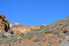 Mountain landscape of Teide National Park. Tenerife, Canary Islands Royalty Free Stock Photography