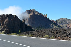 Mountain landscape of Teide National Park. Tenerife, Canary Islands Royalty Free Stock Photo