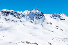 Mountain landscape in Tignes Royalty Free Stock Images