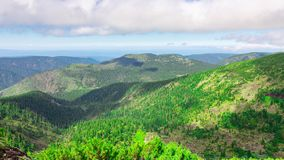 Mountain landscape. Time lapse stock footage