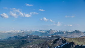 Mountain landscape time-lapse stock video footage