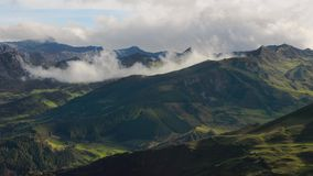 High mountain clouds timelapse in the Andes stock footage