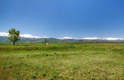 Mountain landscape. Tokmok, Kyrgyzstan Royalty Free Stock Images