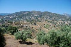 Mountain landscape, Torrox. Stock Photos