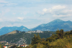 Mountain landscape with  town Stock Images