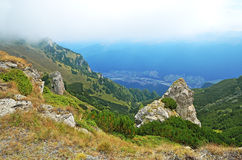 Mountain landscape in Transylvania, Romania Royalty Free Stock Images