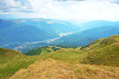 Mountain landscape in Transylvania, Romania Stock Images