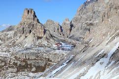 Mountain landscape at Tre Cime Stock Images