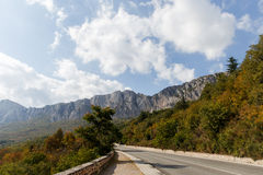 Mountain landscape with trees ,road Stock Image