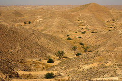 Mountain landscape in Tunisia, Africa Royalty Free Stock Photography