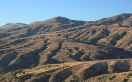Mountain landscape. Turkey. Panorama of chain of mountains at sunrise. Turkey Stock Images