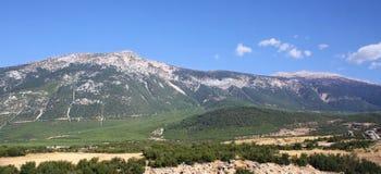 Mountain landscape. Turkey. Panorama of chain of mountains at sunrise. Turkey Royalty Free Stock Image