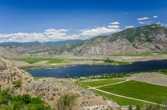 Mountain Landscape under Blue Sky in the Okanagan Valley Stock Images