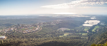 Mountain landscape, Upper Galilee in Israel Royalty Free Stock Images