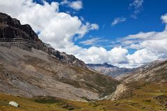 Mountain landscape in Upper Mustang, Nepal Royalty Free Stock Photos