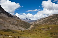 Mountain landscape in Upper Mustang, Nepal Royalty Free Stock Photo