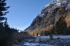Mountain landscape in Val Roseg, Switzerland Royalty Free Stock Photos