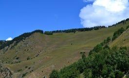 Mountain landscape. Valley in Karachay-Cherkess Republic, Russia. Photo taken on: July 27 Saturday, 2013 Stock Images