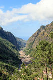 Mountain landscape. Valley in the mountains. Island Madeira Stock Photo