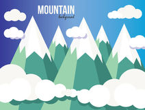 Mountain landscape. Mountain vector landscape, background. Clouds Stock Photography