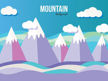 Mountain landscape. Mountain vector landscape background. Clouds Stock Photo