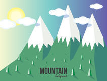 Mountain landscape. Mountain vector landscape background. Stars, moon Stock Images
