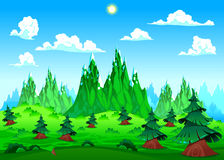 Mountain landscape. vector illustration