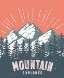 Mountain and landscape vector color image. Royalty Free Stock Images