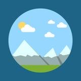 Mountain landscape vector illustration Royalty Free Stock Photos