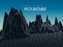Mountain landscape vector illustration Royalty Free Stock Photography