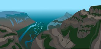 The Mountain Landscape Vector stock illustration