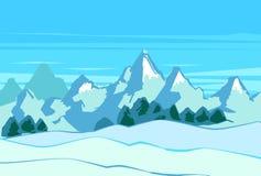 Mountain landscape. Vector illustration snowy mountain landscape Stock Photo