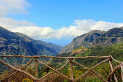 Mountain landscape. View on the mountains of island. Island Madeira stock images