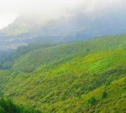 View of mountains from pico Das Pedras, Madeira Island, Portugal, Europe. Royalty Free Stock Photos