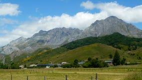 Mountain landscape with village Stock Photos