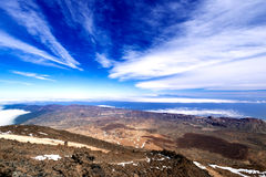 Mountain landscape from volcano Teide Royalty Free Stock Photography