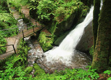 Mountain landscape with waterfall. Germany-Mountain landscape with waterfall Stock Photos